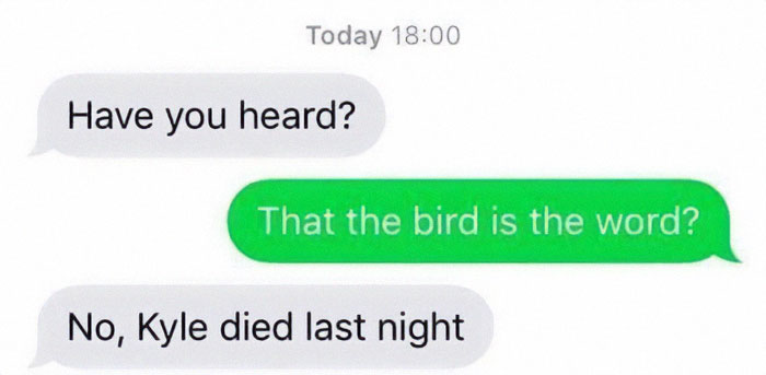 Don't You Know About The Bird? Everybody's Talking About The Bird