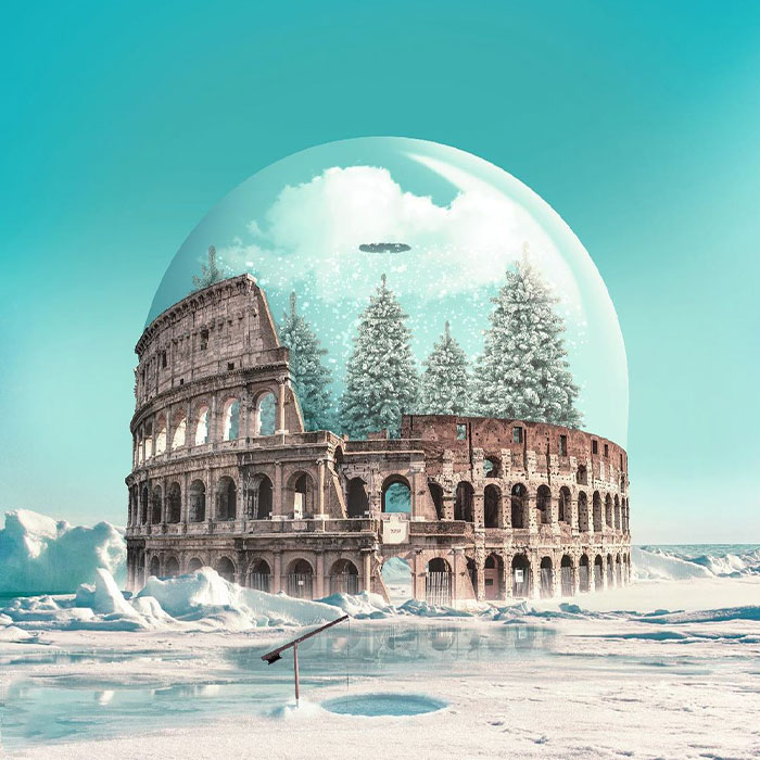 Digital Artist Creates Magical And Surreal Images From Architecture And Fragments Of Nature (55 Pics)