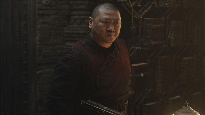 In Doctor Strange (2016) Wong Doesn't Find Any Of Strange's Jokes To Be Funny. At The End Of The Film Strange Makes A Bad Joke And Wong Laughs. This Is Now Because Doctor Strange Is His Boss