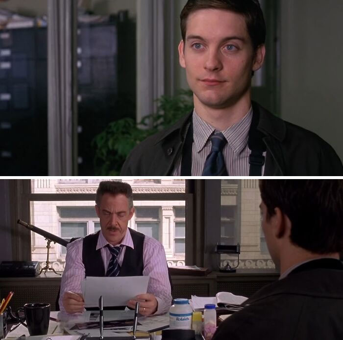 In Spider-Man (2002) Peter Parker Sold Pictures Of Himself For Money. This Is A Reference To How He Was The First Onlyfans Model