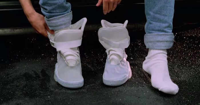 In Back To The Future Part II (1989), Marty Mcfly Puts His Bare Sock On Wet Concrete. This Is A Reference To The Fact He's A Goddamn Maniac