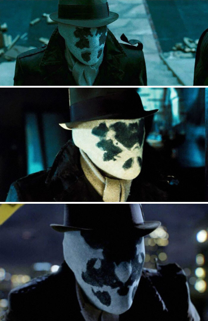 In Watchmen (2009), The Patterns On Rorschach's Mask Constantly Shift Around And Show Various Images Of My Parents Fighting