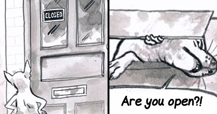 """The Struggles Of Customer Service Illustrated In 28 Funny """"Customer Service Wolf"""" Comics (New Pics)"""