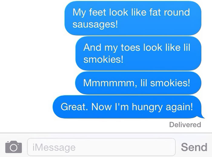 I Sent This Series Of Texts To My Hubby Just Now