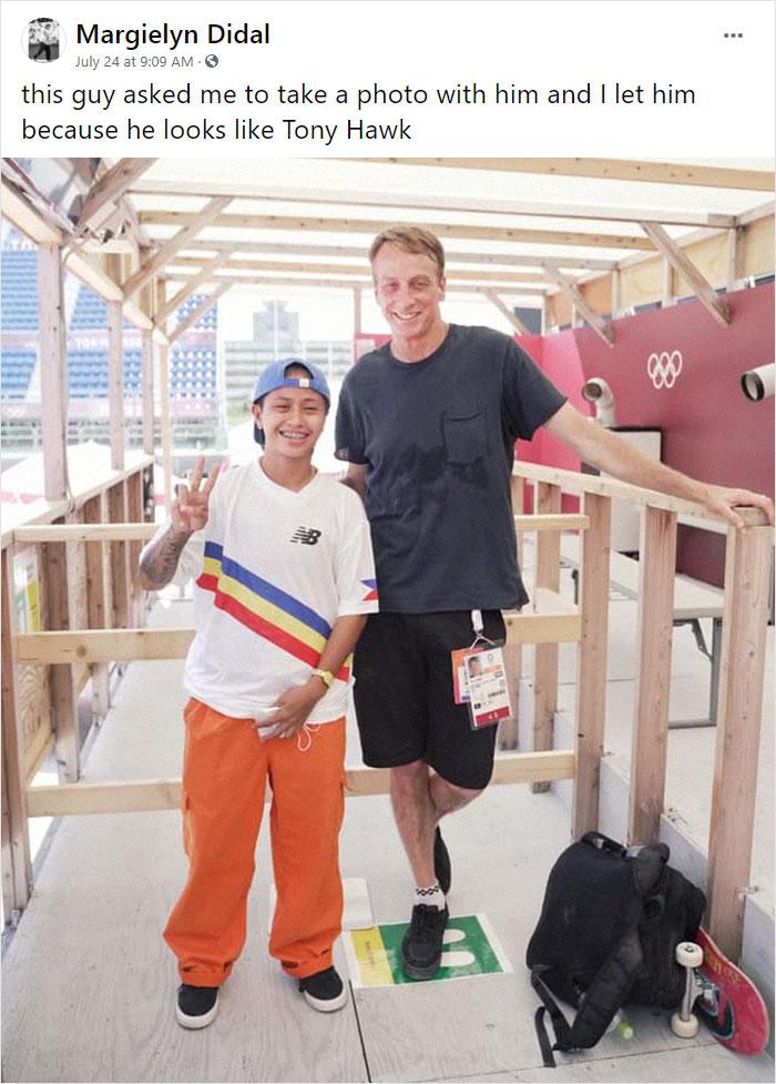 Skateboarder From Philippines Meets Tony Hawk