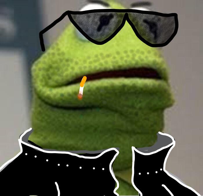 I Made This Instead Of Doing School. ~gangsta Kermit~