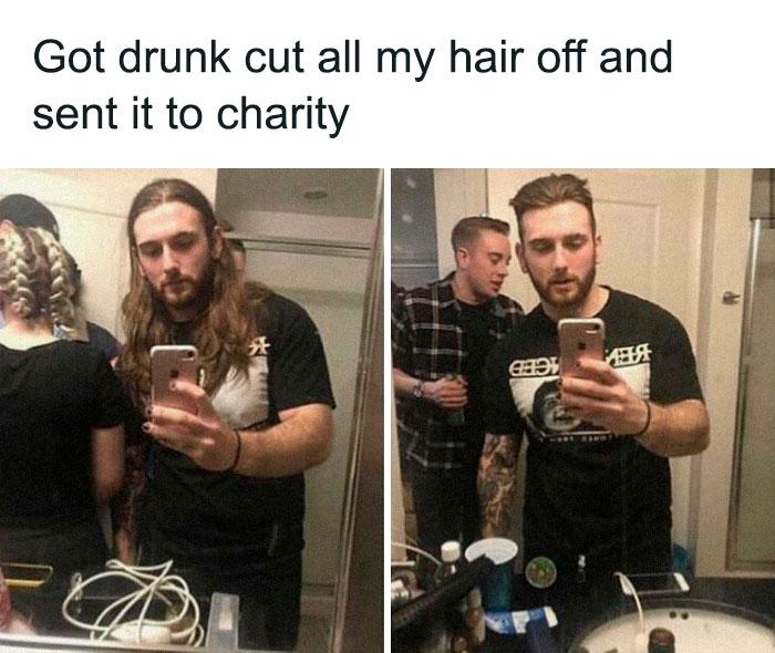 Mad Lad Donates Hair