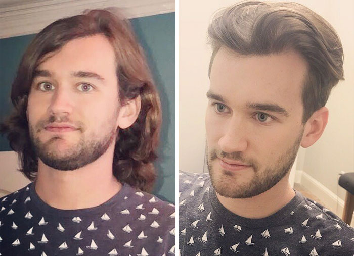 Grew My Hair For About A Year And A Half On A Whim And Decided To Get It Cut Today. Really Happy With The Result