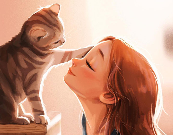 Artist Illustrates How Doing Anything Is Much Better When There Are Animals Around (29 Pics)