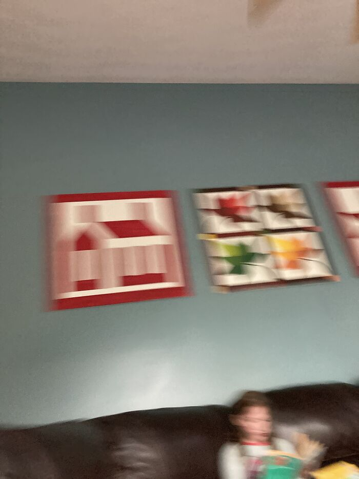 I Was Trying To Take A Pic Of My Moms Art.