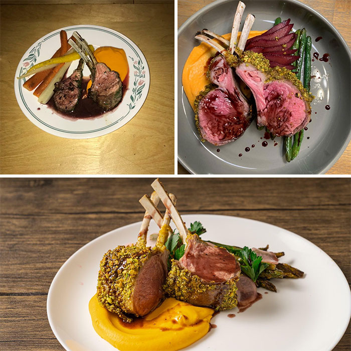 Three Years Of Progression For Roughly The Same Lamb Dish