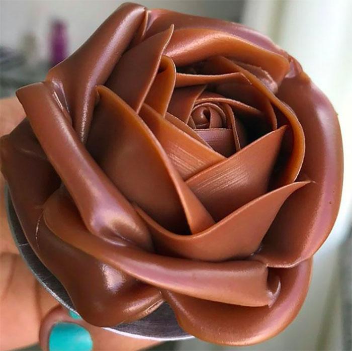 A Stunning Chocolate Rose
