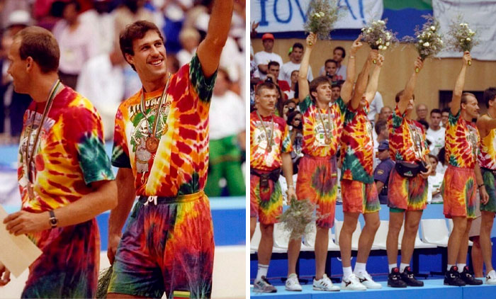 Inspirational Story Of One Of The Most Famous Tie-Dye Shirts Created For A Post-Soviet Lithuanian Basketball Team By An American Rock Band Is Going Viral
