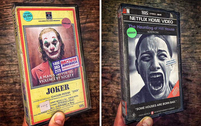 This Artist Remakes Modern Movies And TV Series Into Nostalgic VHS Covers (60 New Pics)