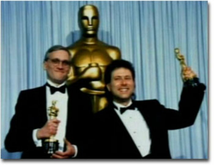 This Photo Of Howard Ashman And Alan Menken, Who Wrote The Lyrics And Music Respectively For The Little Mermaid, Beauty And The Beast And Aladdin. In This Photo They Had Just Won Oscars For The Little Mermaid