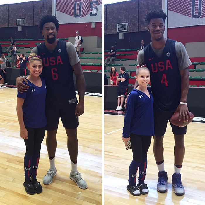 Size Difference Between Basketball Players And Gymnasts