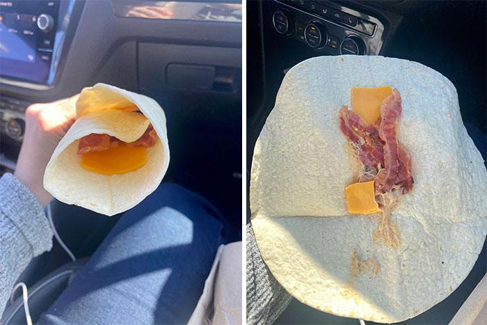 """El """"Wrap de desayuno"""" de Tim Horton's"""
