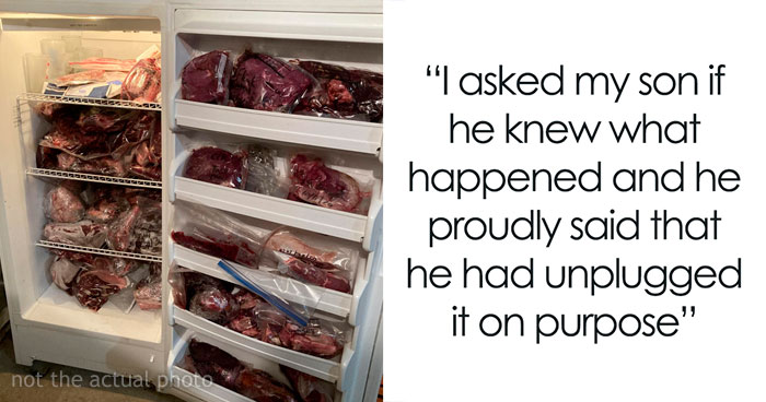 Dad Makes Vegetarian Son Deal With Rotting Meat After He Purposely Unplugs The Freezer So Their Meat Would Go Bad
