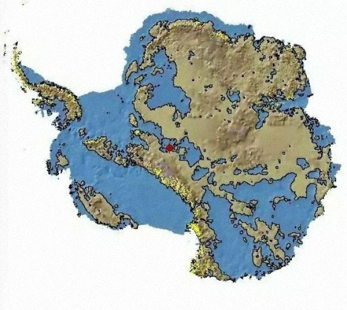 La Antártida sin hielo, no se ve mucho