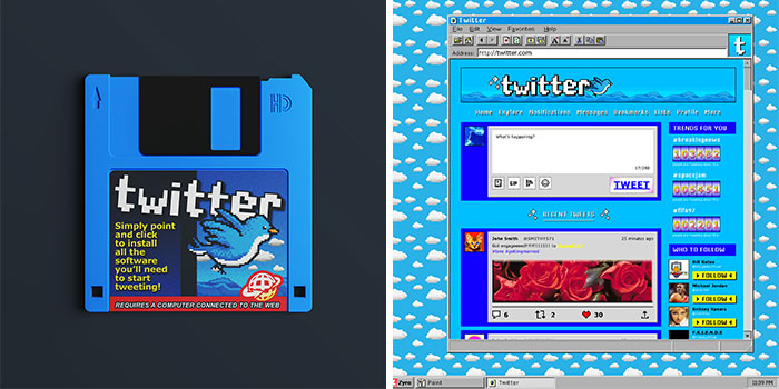 Designers Show What Popular Websites Would Look Like If They Were Made In The '90s (8 Pics)