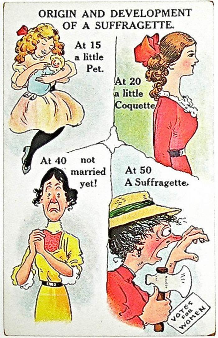 1900s, Anti-Feminist Poster.