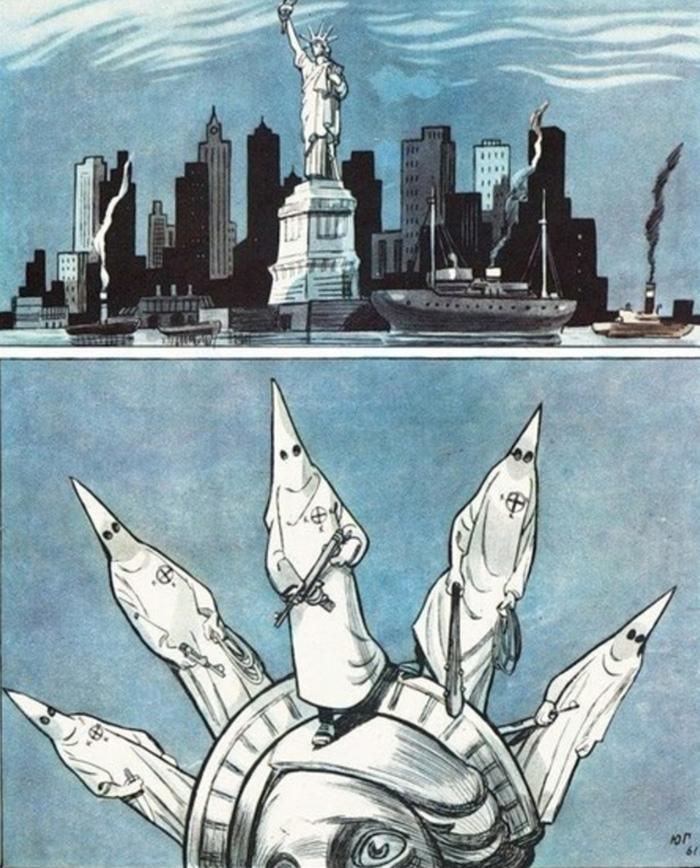 Anti-American Poster, Ussr, 1960