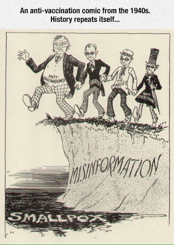 Anti-Vac Comic From The 1940s. Stupidity Is Timeless.
