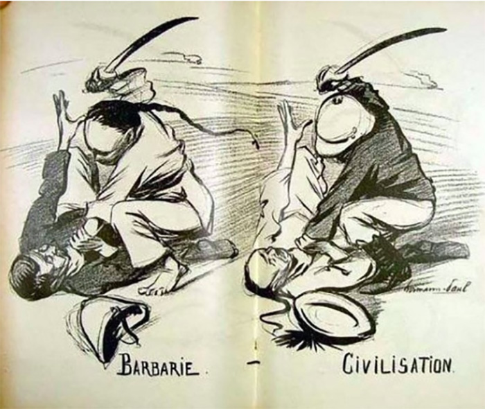 Barbarity vs. Civilisation, By René Georges Hermann-Paul, 1899