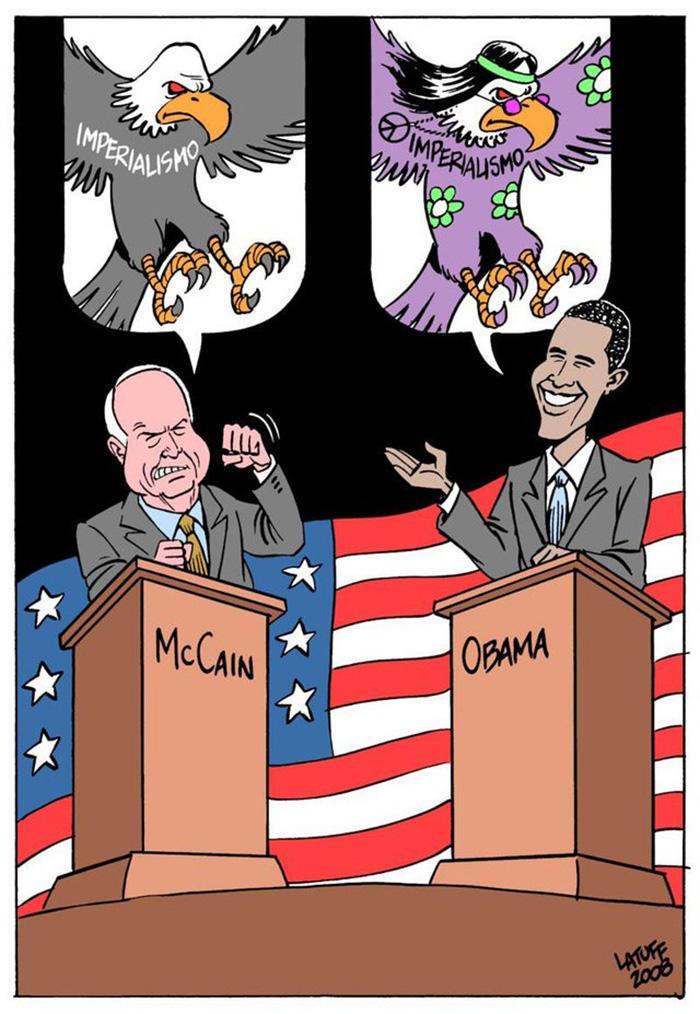 Brazilian Cartoon On Us Presidential Election 2008