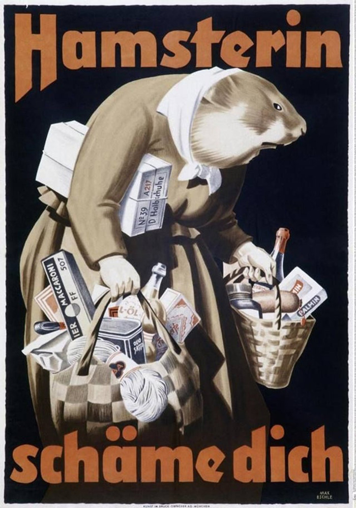 Hoarders, Panic Buyers, Shame On You! (Nazi Germany, 1942)
