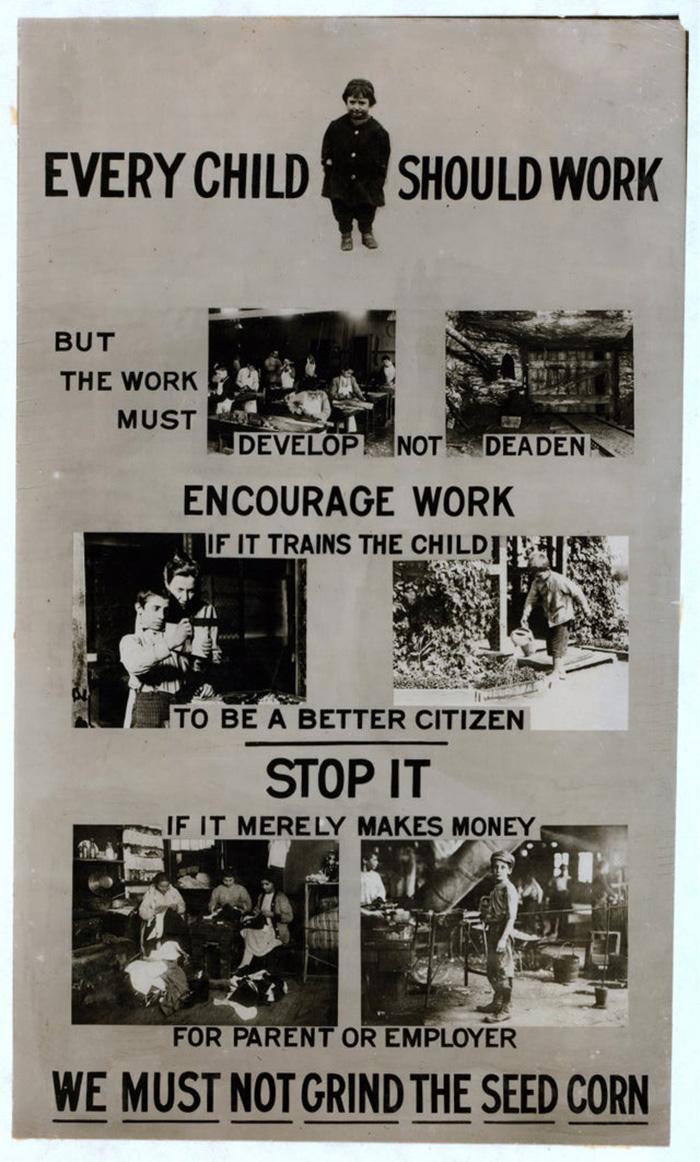 Pro-Child Labor Poster ~1915
