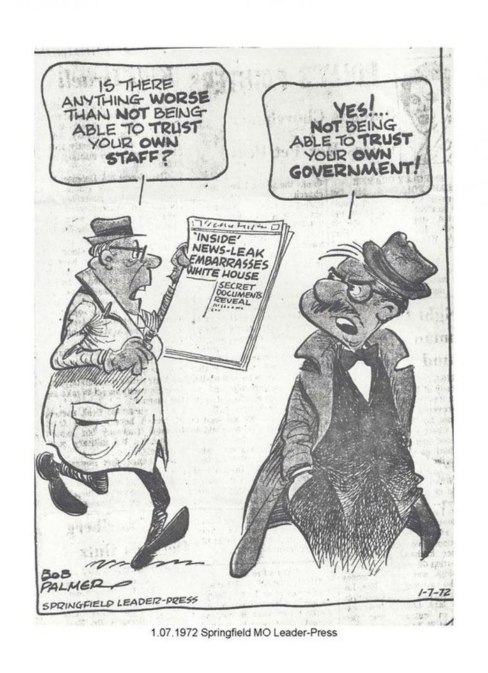 """News-Leak Embarrasses White House"" 1972."