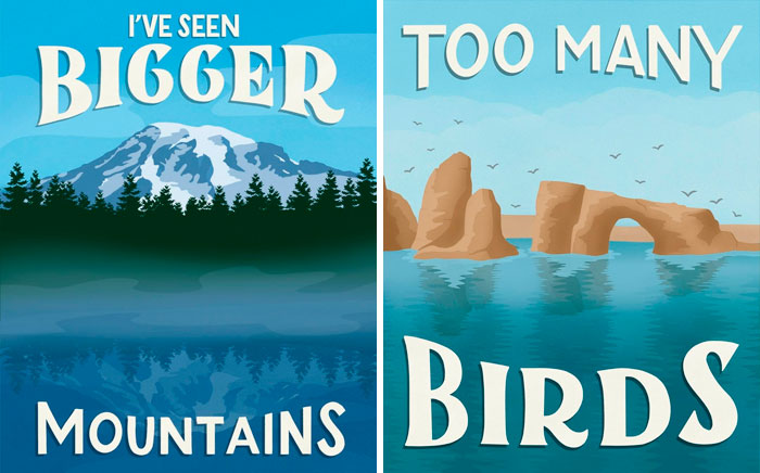 Artist Can't Believe Some Tourists Actually Leave One-Star Reviews For National Parks, Decides To Illustrate Them (New Pics)