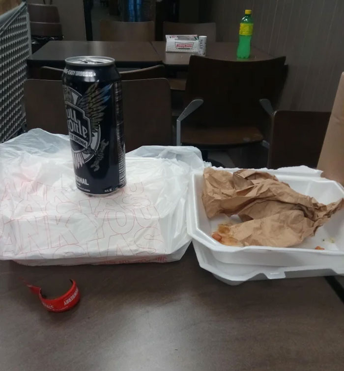 How One Of My Coworkers Leaves His Trash After He Is Done Taking His Break