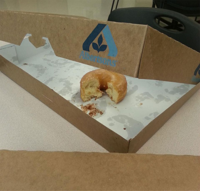 We Had Donuts At Work, And I Watched A Coworker Take Two Bites Out Of This Donut And Put It Back In The Box