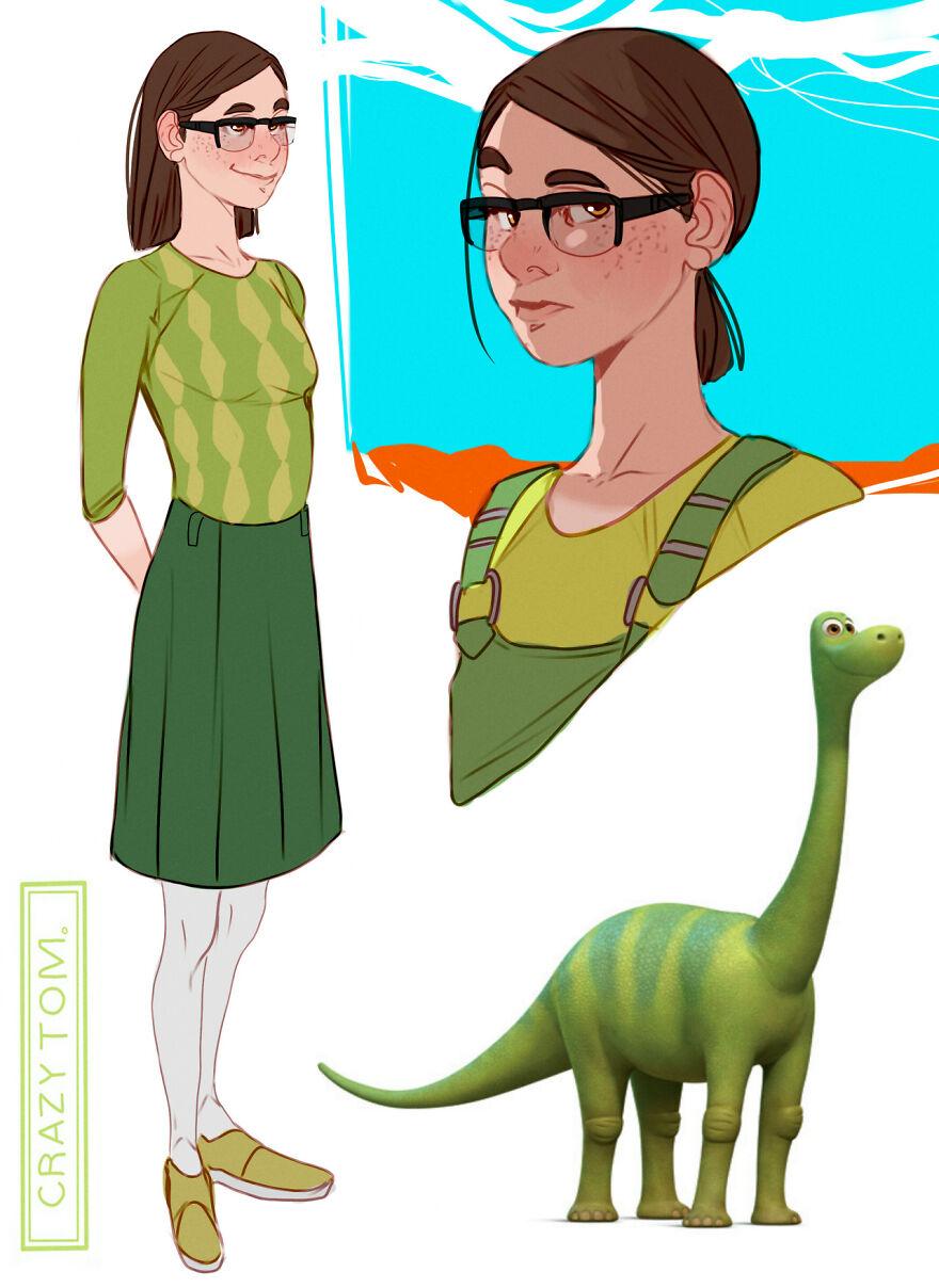 Libby from The Good Dinosaur.