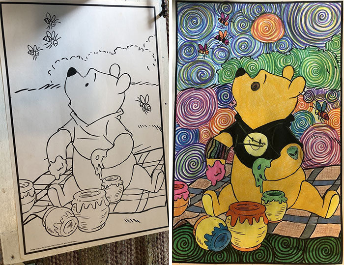"""Pooh Says """"Perhaps"""" To Drugs. I Finished! Before Pic In Comments"""
