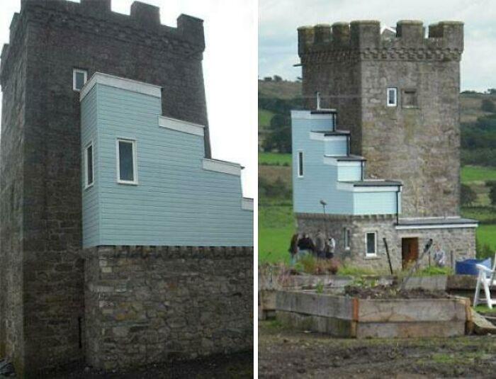 Las renovaciones hechas a una torre de 500 años de antigüedad