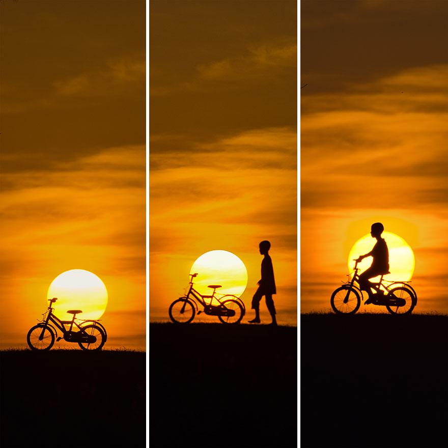 Kid At Sunset