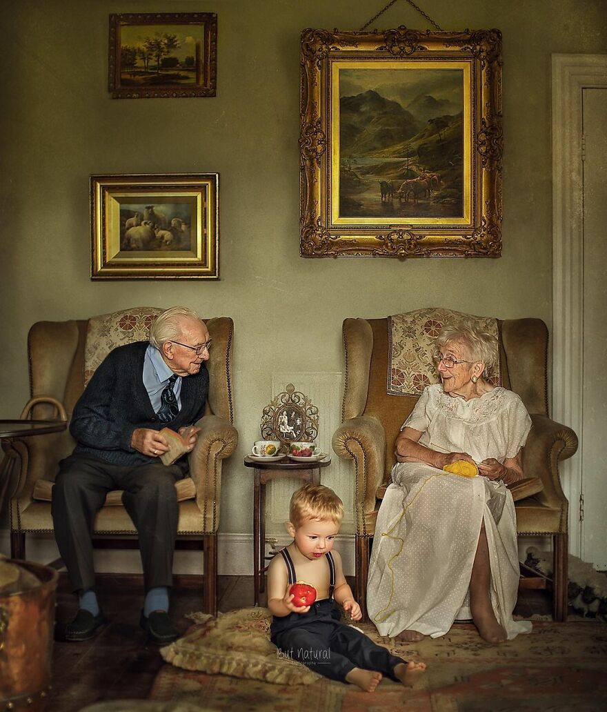 I Capture Grandparents With Their Grandkids Because No One Ever Photographed Me With Mine (12 Pics)