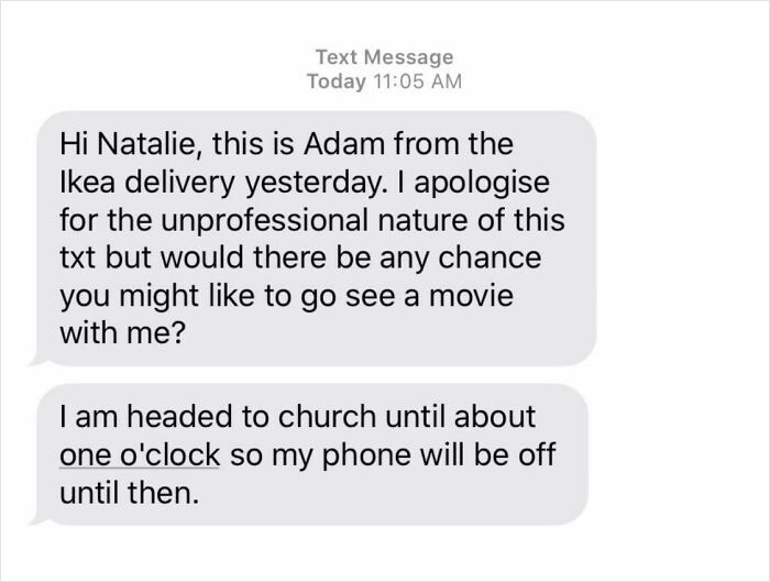 My Roommate Tried To Get An IKEA Delivery To Our Apartment. They Called And Refused To Drive Into Our Complex, Saying She'd Have To Grab The Bookcase From Their Truck And Drive It To Our House. After Irritatedly Doing So In Her Pjs And Barely Speaking To Delivery Guys, She Got This Message Today