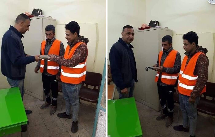 These Iraqi Workers Gave Back 30.000 Us $ They Found, And They Were Rewarded With 1 Copy Of The Quran