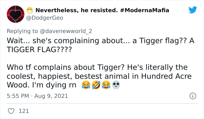 Joyless Karen Is Triggered By A Tigger Flag That Her Neighbor Has, Goes Viral On TikTok