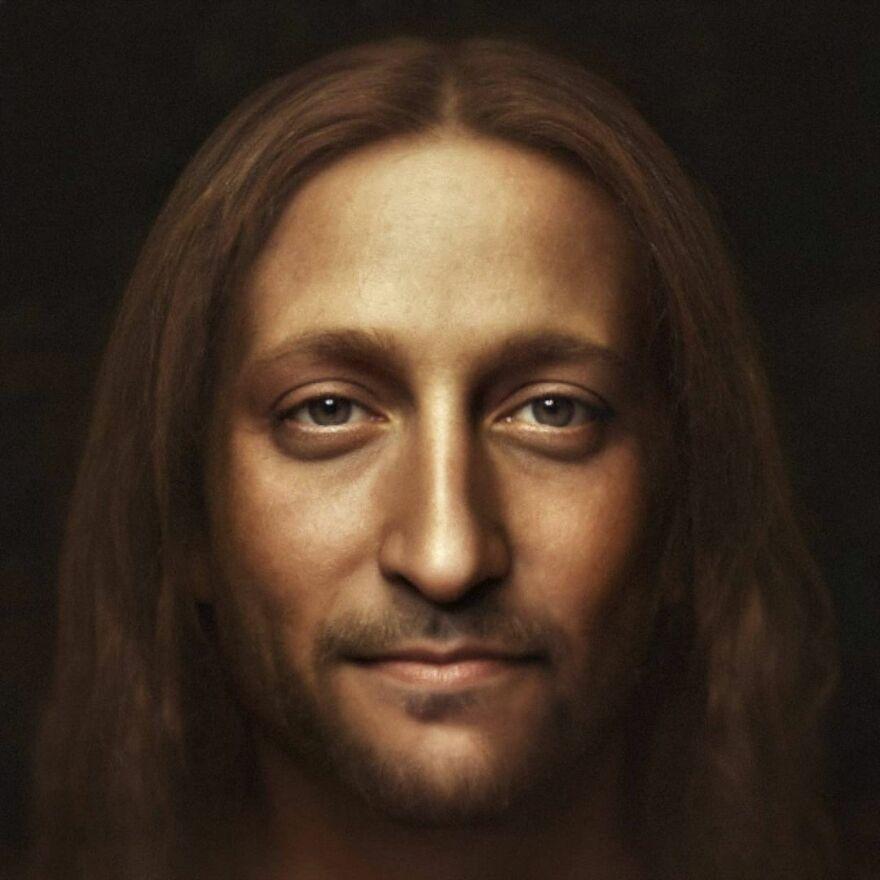 """Jesus Christ Based On Leonardo Da Vinci's """"Savior Of The World"""""""