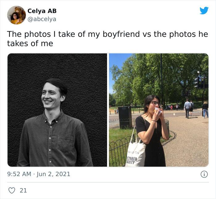 30 Of The Funniest Photos Taken By Girlfriends Vs Boyfriends