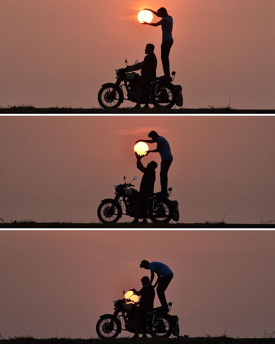 Taking Sun On Ride