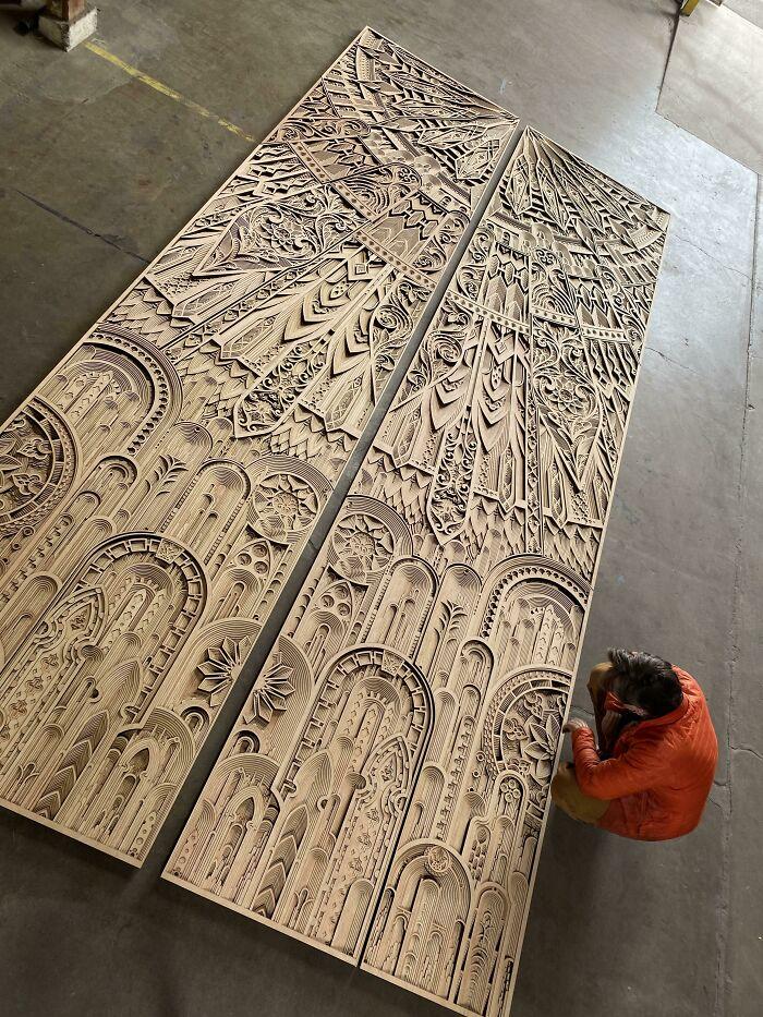 20 Foot Tall Door Facade By Gabriel Schama