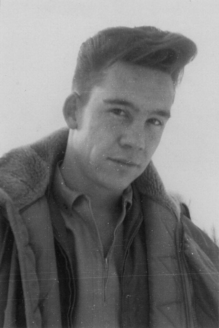 Bob Ross Before His Perm + Beard