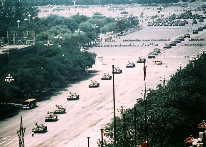 The Tank Man Photo From The Day Of The Tiananmen Square Massacre In 1989, Uncropped
