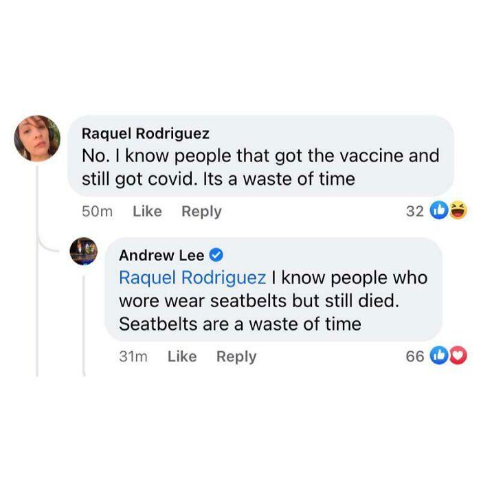Anti-Vaxxer Logic